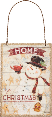 "Christmas Ornament - ""Home For Christmas With A Snowman Ornament"""