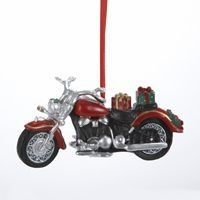"""Christmas Ornament - """"Motorcycle With Gifts Ornament"""""""