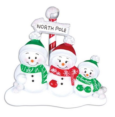"Christmas Ornament - ""North Pole Family Ornament - 3"""