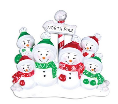 "Christmas Ornament - ""North Pole Family Ornament - 6"""