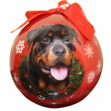 "Christmas Ornament - ""Rottweiler"""