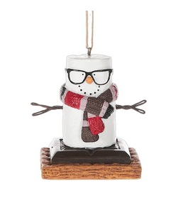 """Christmas Ornament - """"S'mores Hipster Ornament"""""""