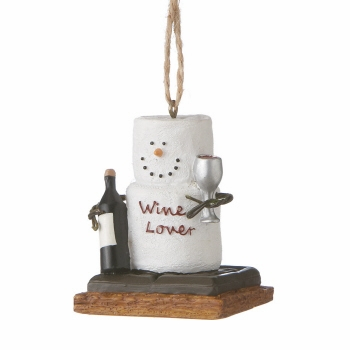"""Christmas Ornament - """"S'mores Wine Lover Ornament"""""""