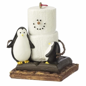 """Christmas Ornament  - """"S'mores with Penguins Ornament"""""""