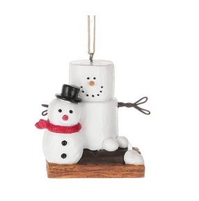 """Christmas Ornament - """"S'mores With Snowman Ornament"""""""