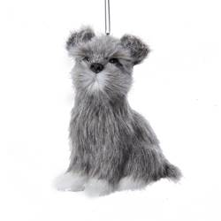 "Christmas Ornament - ""Schnauzer Plush Ornament"""