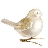 "Christmas Ornament - ""Silver Bird Ornament With Clip"""
