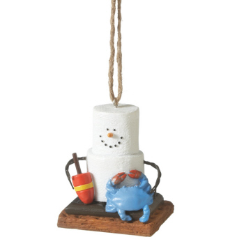 """Christmas Ornament - """"Smore With A Crab Ornament"""""""