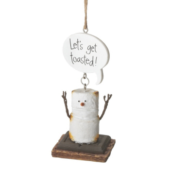 """Christmas Ornament - """"Smore - Let's Get Toasted Ornament"""""""