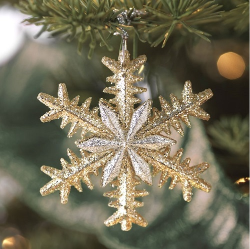 "Christmas Ornament - ""Snowflake Ornament - Platinum"""