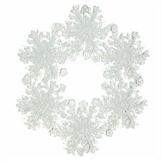 "Christmas Ornament - ""Snowflake Wreath Ornament"""