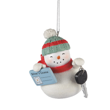"""Christmas Ornament - """"Snowman First Driver's License Ornament"""""""