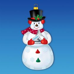 "Christmas Ornament - ""Snowman With A Hershey Kisses Ornament"""
