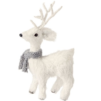 "Christmas Ornament - ""White Fur Deer Ornament"""
