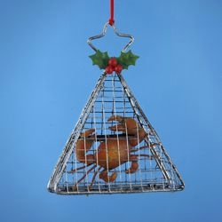 "Christmas Ornament - ""Wire Crab Cage Ornament"""