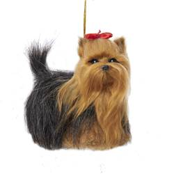 "Christmas Ornament - ""Yorkshire Terrier Plush Ornament"""