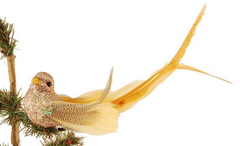 "Christmas Ornaments - ""Champagne Bird Ornament"""