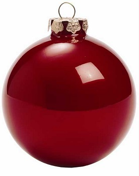 """Christmas Ornaments - """"Opal Red"""" - 3"""""""