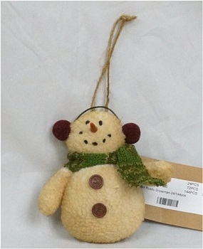 Christmas Ornaments - Rustic Snowman Ornament""