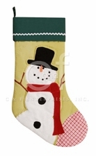"""Christmas Stocking - """"Snowman Quilted Christmas Stocking"""""""