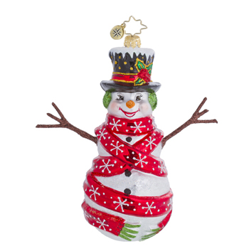 "Christopher Radko Glass Ornament  - ""Cozy Cherry Ice Ornament"""