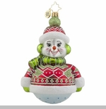 "Christopher Radko Glass Ornament - ""Dressed To Chill"""