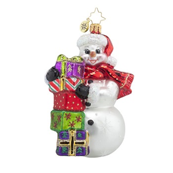 "Christopher Radko Glass Ornament - ""Festive And Frosty"""