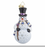 "Christopher Radko Glass Ornament - ""Frosty Winds"""