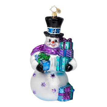 """Christopher Radko Glass Ornament  - """"It's Cool To Give Ornament"""""""