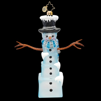 "Christopher Radko Glass Ornament - ""Mr. Frosty Cubes Ornaments"""