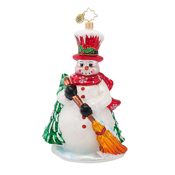 "Christopher Radko Glass Ornament  -  ""Mr.McBroom Ornament"""