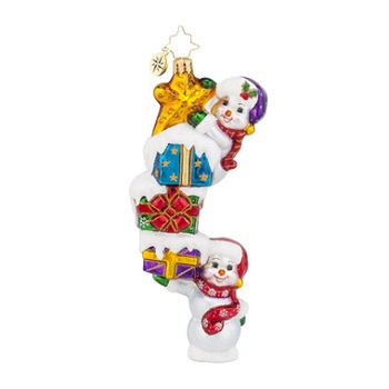 "Christopher Radko Glass Ornament - ""Snow Stack On High"""