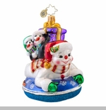 "Christopher Radko Glass Ornament - ""Snowday Ornament"""