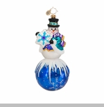 "Christopher Radko Glass Ornament  - ""Snowdrift Memories Ornament"""
