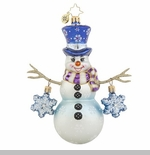"Christopher Radko Glass Ornament - ""Snowflake Cascade"""