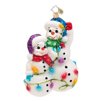 "Christopher Radko Glass Ornament -  ""Snowmen Glowmen Ornament"""