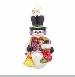 "Christopher Radko Glass Ornament - ""Snowy Sweeper"""