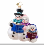 "Christopher Radko Glass Ornament  - ""Winter Melodies Ornament"""