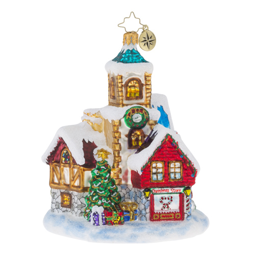 """Christopher Radko Glass Ornaments - """"Cottages & Houses"""""""