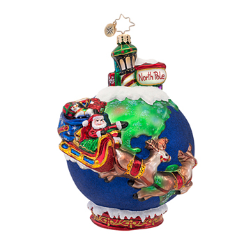 """Christopher Radko Glass Ornaments - """"Scenes from the North Pole Collection"""""""