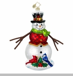 "Christopher Radko Glass Ornaments - ""Snowmen"""