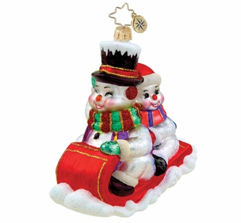 "Christopher Radko Ornament - ""Down The Hill We Go Ornament"""
