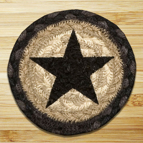"Coaster - ""Black Star Braided Coaster"""