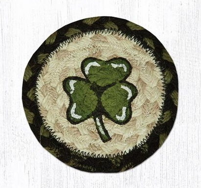 "Coaster - ""Shamrock Braided Coaster"""