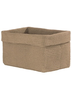 "Decorative Baskets - ""Crocheted Baskets - Tan"" -Large"