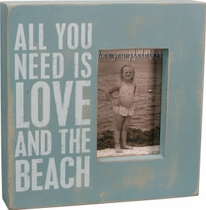 "Decorative Box Frame - ""Love And The Beach...Box Frame"""