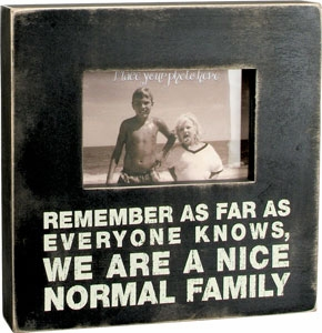 "Decorative Box Frame - ""Normal Family...Box Frame"""