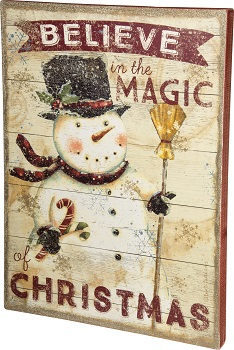 "Decorative Box Sign - ""Believe In The Magic Of Christmas... Box Sign"""