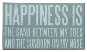 """Decorative Box Sign - """"Happiness Is Sand...Box Sign"""""""