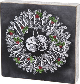 "Decorative Box Sign - ""Merry Christmas... Box Sign"""